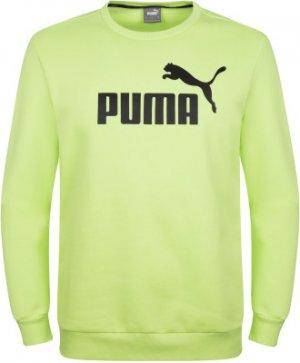 Свитшот мужской Ess+ Crew Sweat Fl Big Logo, размер 44-46 Puma. Цвет: зеленый