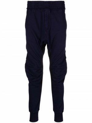 Спортивные брюки с драпировкой Haider Ackermann. Цвет: синий