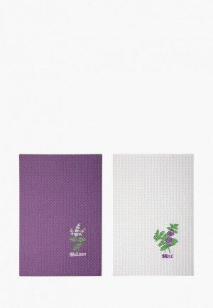 Набор полотенец кухонных Bellehome Мятная свежесть, 50х70 см. Цвет: разноцветный