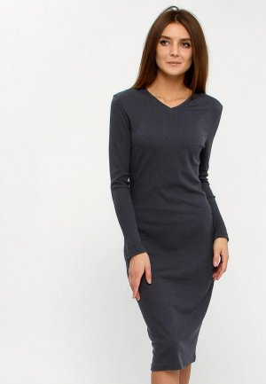 Платье Апрель. Цвет: серый