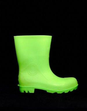 Светящиеся в темноте зеленые резиновые сапоги -Зеленый ASOS DESIGN