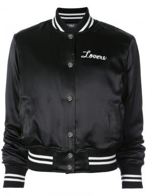 Куртка-бомбер с принтом Lovers Amiri. Цвет: чёрный