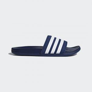 Шлепанцы adilette Cloudfoam Plus Stripes Performance adidas. Цвет: белый