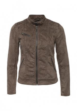 Куртка Only. Цвет: коричневый