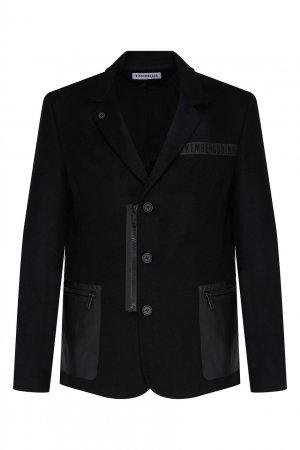 Черный пиджак Bikkembergs. Цвет: черный