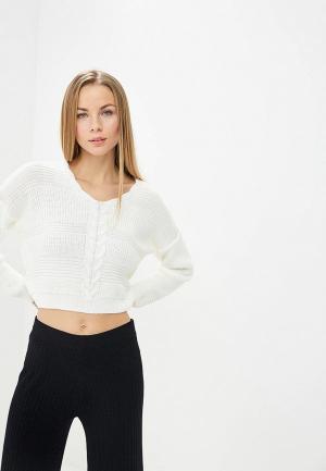 Пуловер Miss Selfridge. Цвет: белый