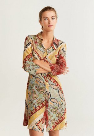 Платье Mango - GIPSY. Цвет: разноцветный