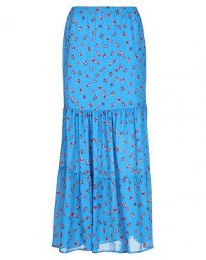 Длинная юбка COMPAGNIA ITALIANA. Цвет: лазурный
