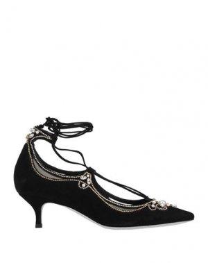 Туфли RENE' CAOVILLA. Цвет: черный