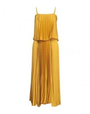 Длинное платье DIXIE. Цвет: охра