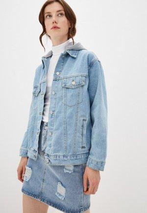 Куртка джинсовая Euros Style. Цвет: голубой