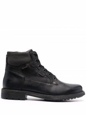 Ботинки на шнуровке Geox. Цвет: черный