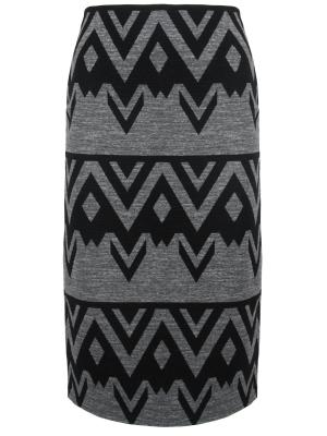 Шерстяная юбка с принтом Chapurin. Цвет: разноцветный
