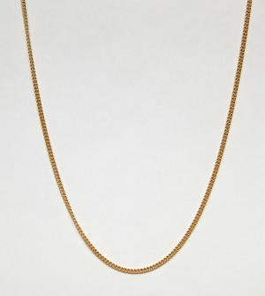 Короткое ожерелье из позолоченного серебра ASOS DESIGN. Цвет: золотой