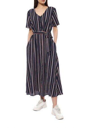 Платье Kaffe. Цвет: темно-синий, белый, полоска