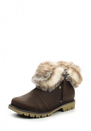 Ботинки Caterpillar FLURRY FUR WP. Цвет: коричневый