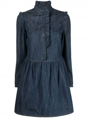 Джинсовое платье с оборками See by Chloé. Цвет: синий