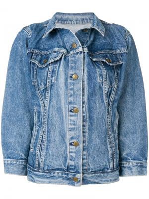 Джинсовая куртка оверсайз Re/Done. Цвет: синий