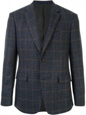 Клетчатый пиджак Kent & Curwen. Цвет: синий