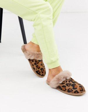Слиперы с леопардовым принтом -Мульти UGG