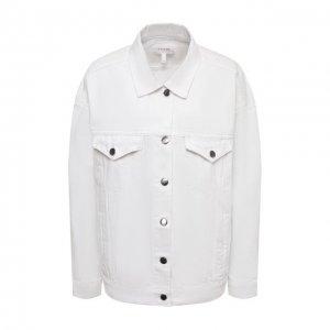 Джинсовая куртка Frame Denim. Цвет: белый