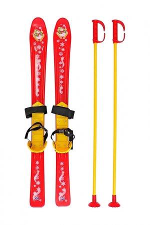Лыжи детские с палками и крепл RT. Цвет: красный