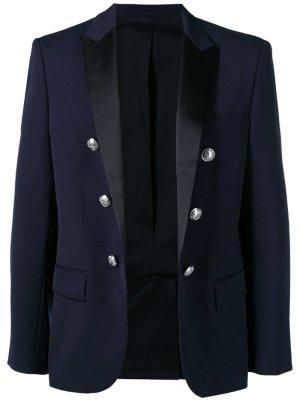 Двубортный костюмный пиджак Balmain