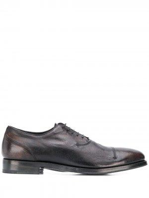Туфли на шнуровке Alberto Fasciani. Цвет: серый