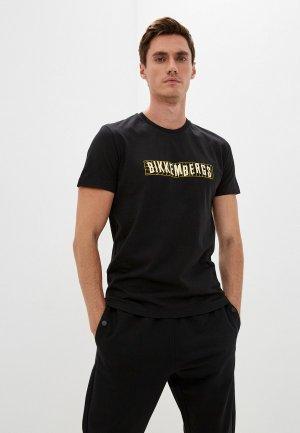 Футболка Bikkembergs. Цвет: черный