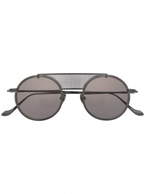 Солнцезащитные очки M3097 в круглой оправе Matsuda. Цвет: черный