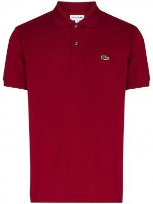 Рубашка поло с вышитым логотипом Lacoste. Цвет: красный