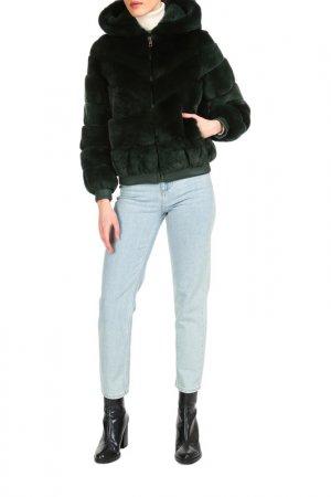 Short fur coat Manakas. Цвет: green