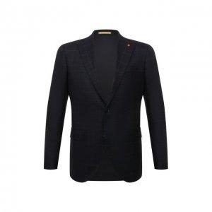 Шерстяной пиджак Sartoria Latorre. Цвет: синий