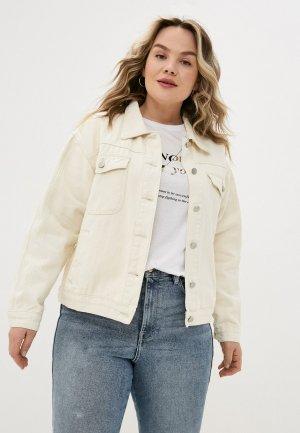 Куртка джинсовая Chic de Femme. Цвет: белый