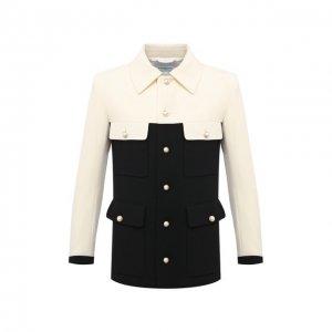 Шерстяной пиджак Casablanca. Цвет: чёрно-белый