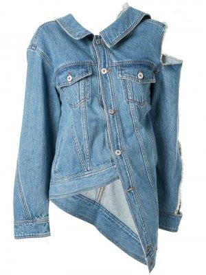 Джинсовая куртка с вырезной деталью на плече Ground Zero