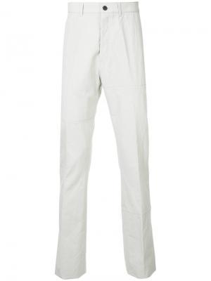 Классические брюки-чинос Lanvin. Цвет: серый