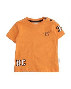Футболка HENRY COTTON'S. Цвет: оранжевый