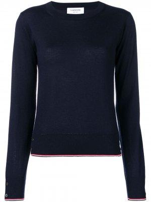 Кашемировый пуловер с полосками RWB Thom Browne