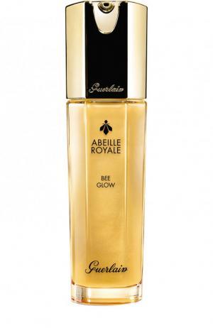 Увлажняющее средство для упругой и сияющей кожи Abeille Royale Bee Glow Guerlain. Цвет: бесцветный