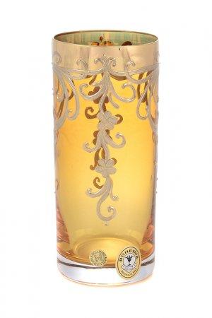 Набор стаканов, 6 шт Bohemia. Цвет: золотой, прозрачный