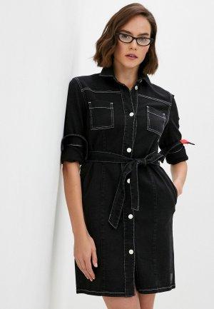 Платье джинсовое Hugo Gileni. Цвет: серый