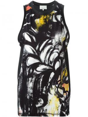 Майка с принтом 3.1 Phillip Lim. Цвет: чёрный