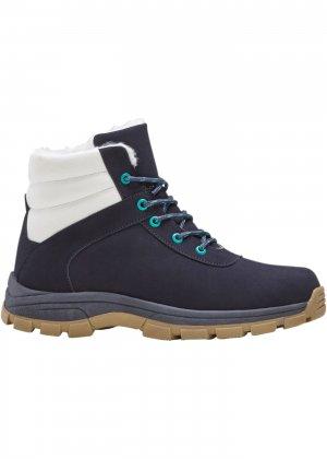 Детские зимние ботинки bonprix. Цвет: синий
