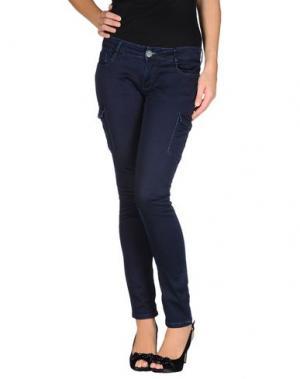 Повседневные брюки CROSS JEANS. Цвет: синий