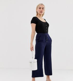 Расклешенные брюки -Темно-синий Vero Moda Petite