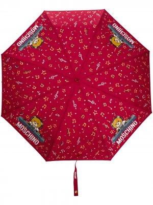 Зонт с принтом Moschino. Цвет: красный