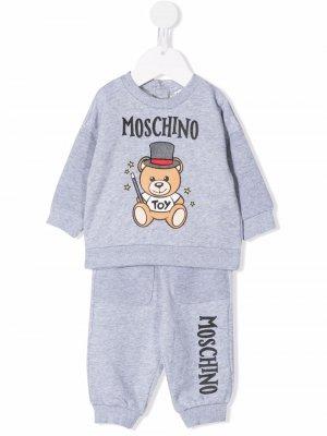 Teddy Bear motif tracksuit Moschino Kids. Цвет: серый