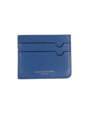 Чехол для документов PAOLO PECORA. Цвет: синий