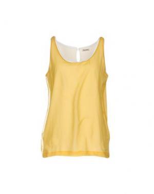 Майка MIU. Цвет: желтый